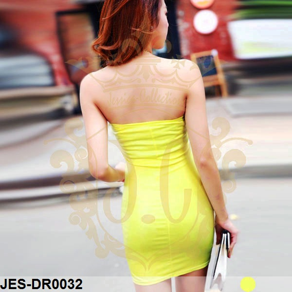 JES-DR0032 sexy leather tube dress