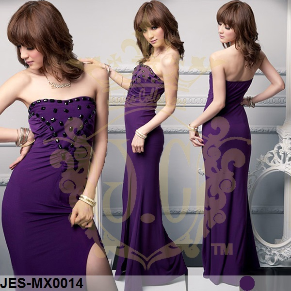 JES-MX0014 sexy spandex maxi dress
