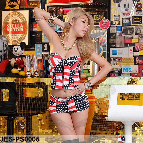 JES-PS0005 sexy american bustier hotpants