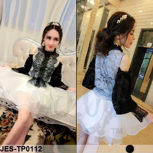 JES-TP0112 korea lace blouse import
