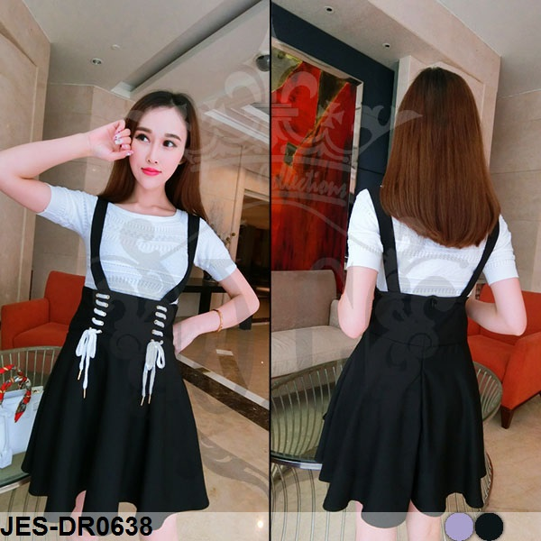 JES-DR0638 casual dress korean style