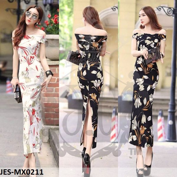 JES-MX0211 sabrina flowers korean longdress