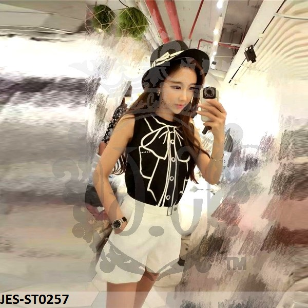 JES-ST0257 bow tanktop with hotpants