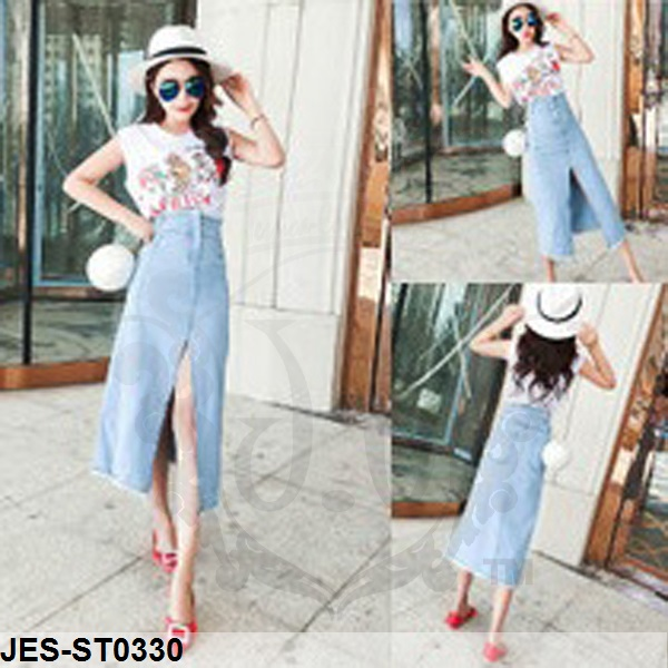 JES-ST0330 top denim skirt import
